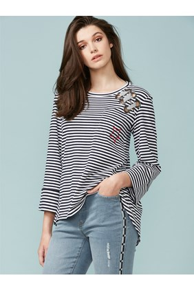 HALF DOZEN STRIPE TOP