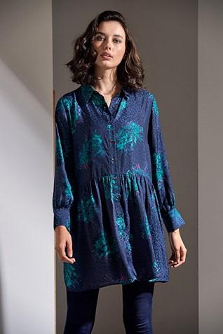 PARADISE FLORAL SHIRT DRESS