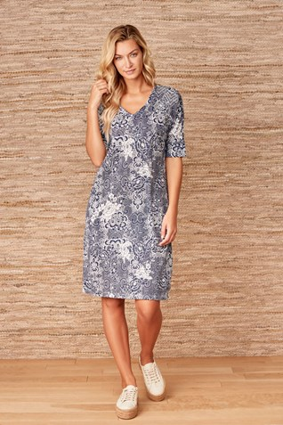TRAVERSE DRESS WITH SEQUINS