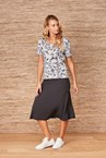 CLASSIFIED SKIRT - black