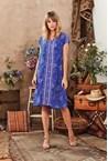 GIA SHIFT DRESS - cobalt