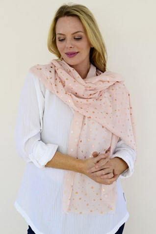 ROSE GOLD SPOT SCARF
