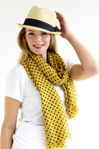 SMALL SPOT SCARF