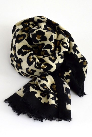 ANIMAL BORDER PRNT SCARF