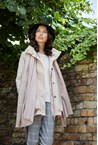 HOODED ANORAK - beige pink