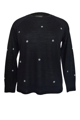 FLUFFY POLKA DOT SWEATER