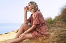 LYSA DRESS - umber